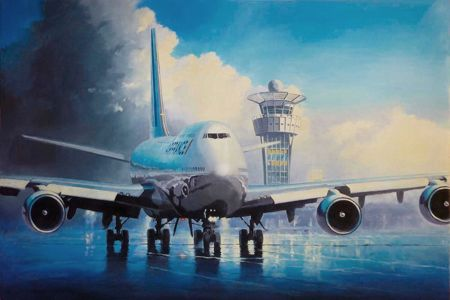 Boeing 747 Orly aviation art perinotto