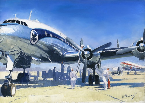Constellation lucio perinotto aviation art mediterranee