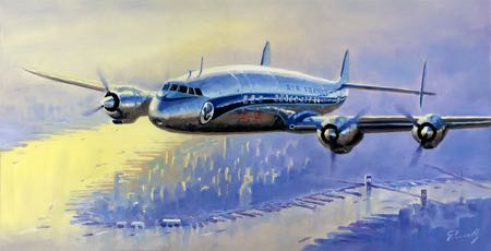 super g constellation New York aviaiton art perinotto