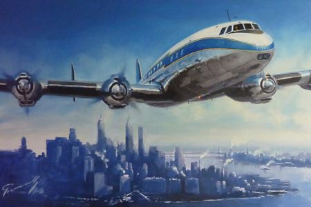Super Constellation Lufthansa New york perinotto
