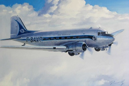 dc3 air france periontto aviation art