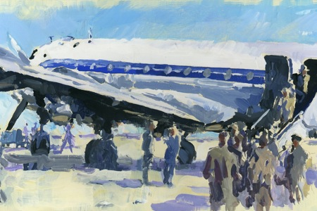 DC4 boarding perinotto art air france