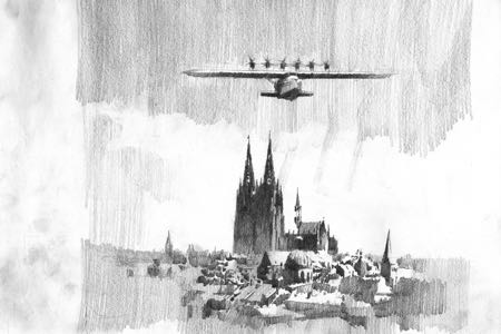 Dornier X Koeln aviation art Perinotto