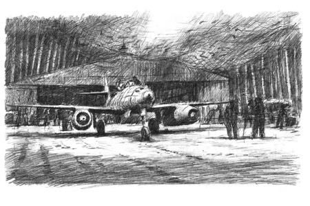 Messerschmitt Me262 perinotto aviation art