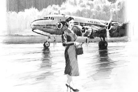 stewardess lucio perinotto drawing artbook2