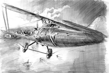 br19 lucio perinotto drawing artbook2 aviation art