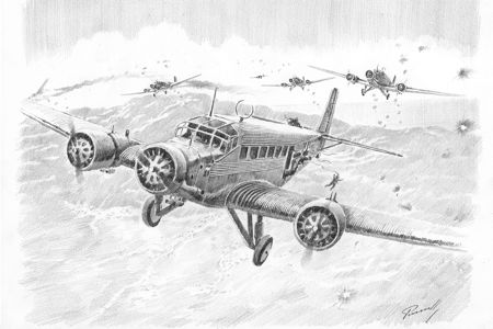 Ju52 Crete Perinotto drawing