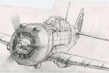 Curtiss H-75 perinotto sketch