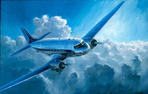 DC3 air france aviation art perinotto