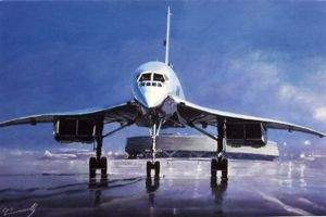 Concorde Roissy Air France lucio perinotto painting